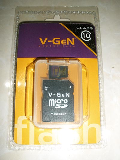 Micro SD Card Vgen 16GB Class 10 With Adapter