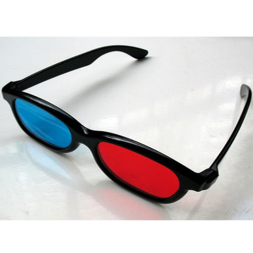 3D Glasses Plastic Frame Kacamata 3D - H3 Merah Biru Film 4D Movie HD