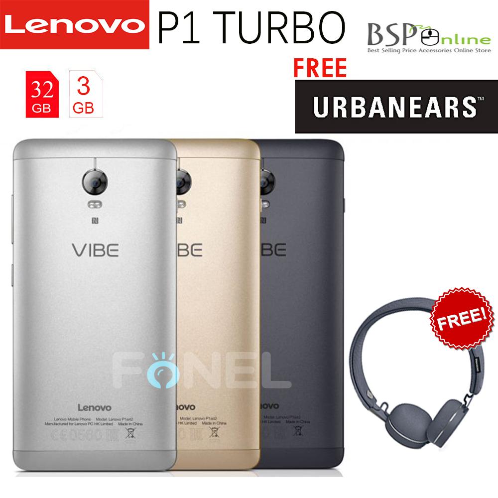 Jual Lenovo Vibe P1 Turbo Free Headphone Garansi Resmi Bsp 32gb Abu Online Tokopedia