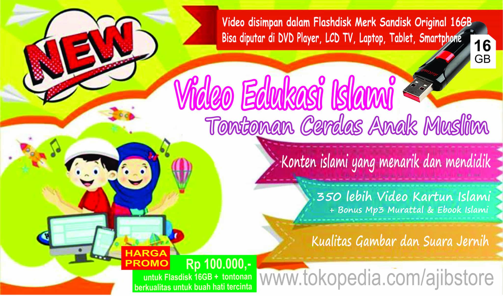 Flashdisk 16gb Original Berisi 350 Video Kartun Edukasi Anak