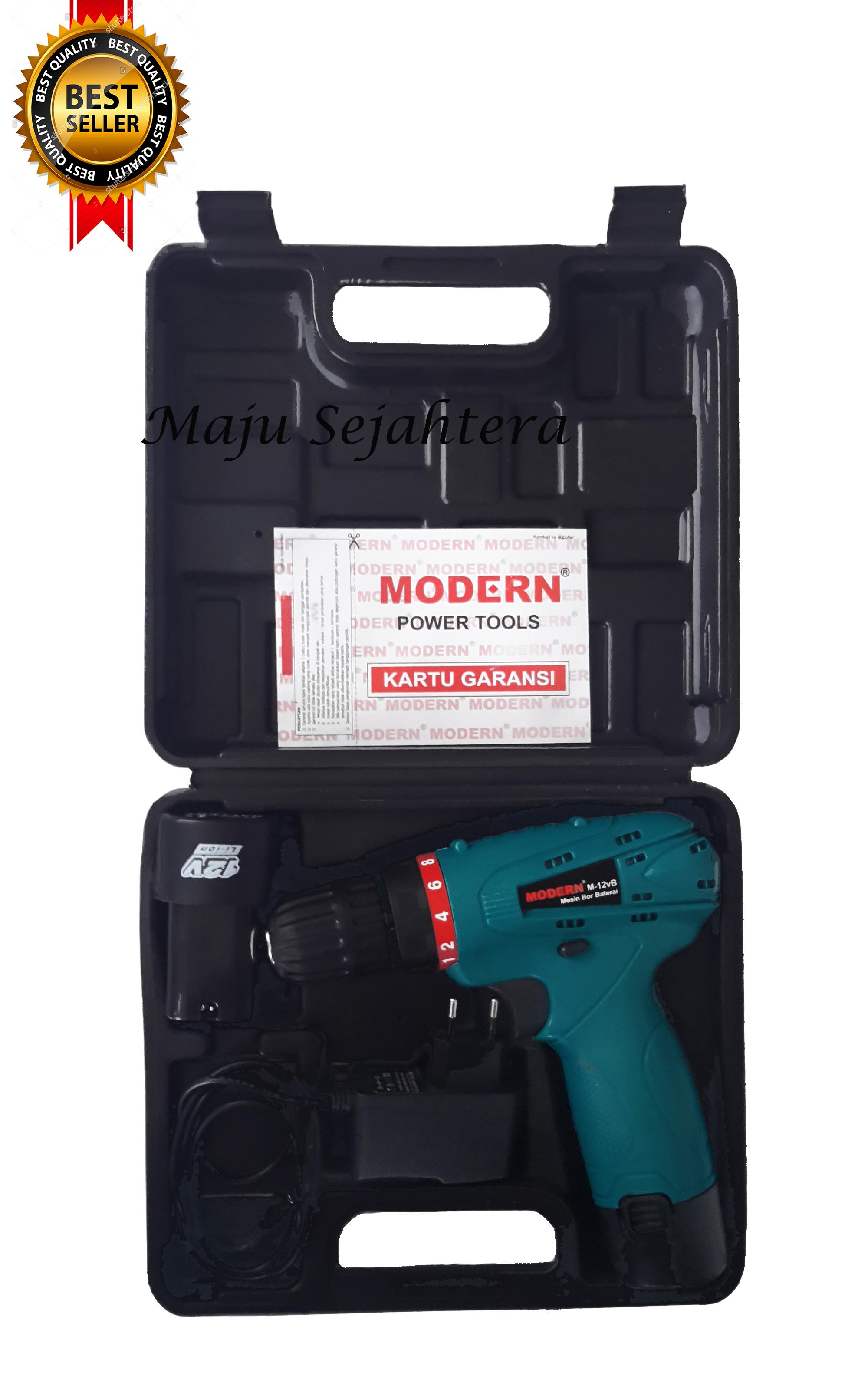 Mesin Bor Cordless 12V Modern, Mesin Bor Charger