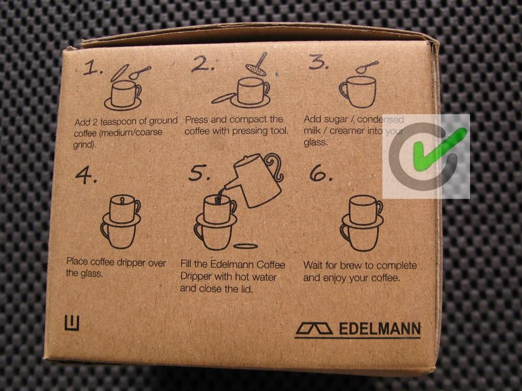 Coffee Drip Edelmann Vietnam Maker 120 Ml Jual Ala Cup Big
