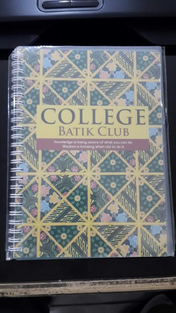 Buku Notes Ring College Batik Kenko A5