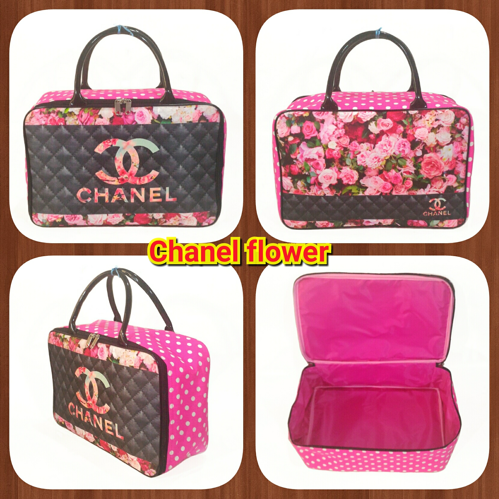 c047264039 Amt Tas Travel Bag Kanvas Bunga Ros Pink Besar Serbaguna Weekend Travelling  Handcarry Pesawat