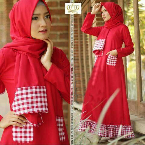 maxi hijab aurel red