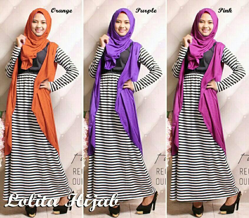 SETELAN Lolita Hijab 3in1