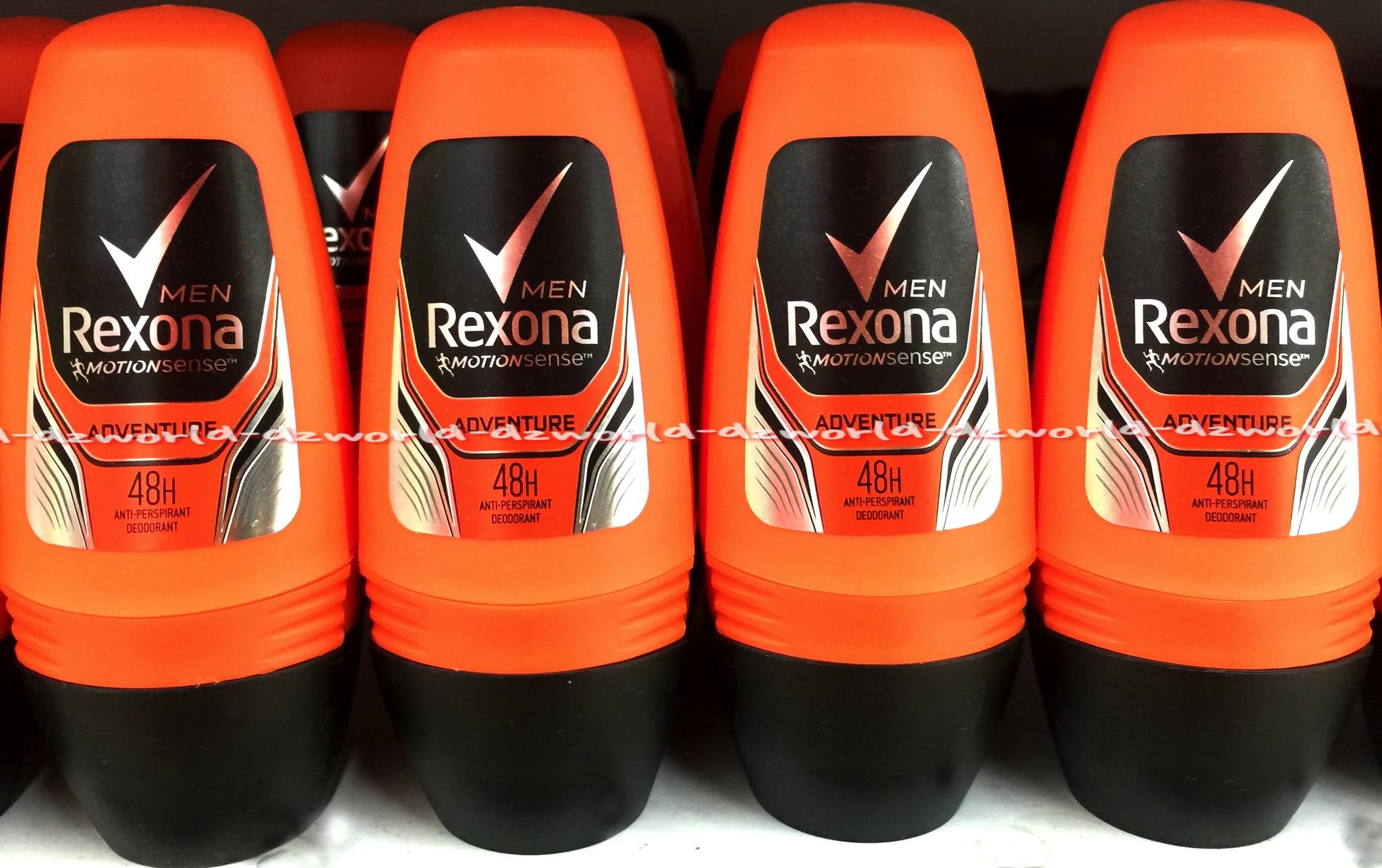 Jual Rexona Men Adventure 48h Roll On Untuk Pria Orange Dz Deodorant World Tokopedia