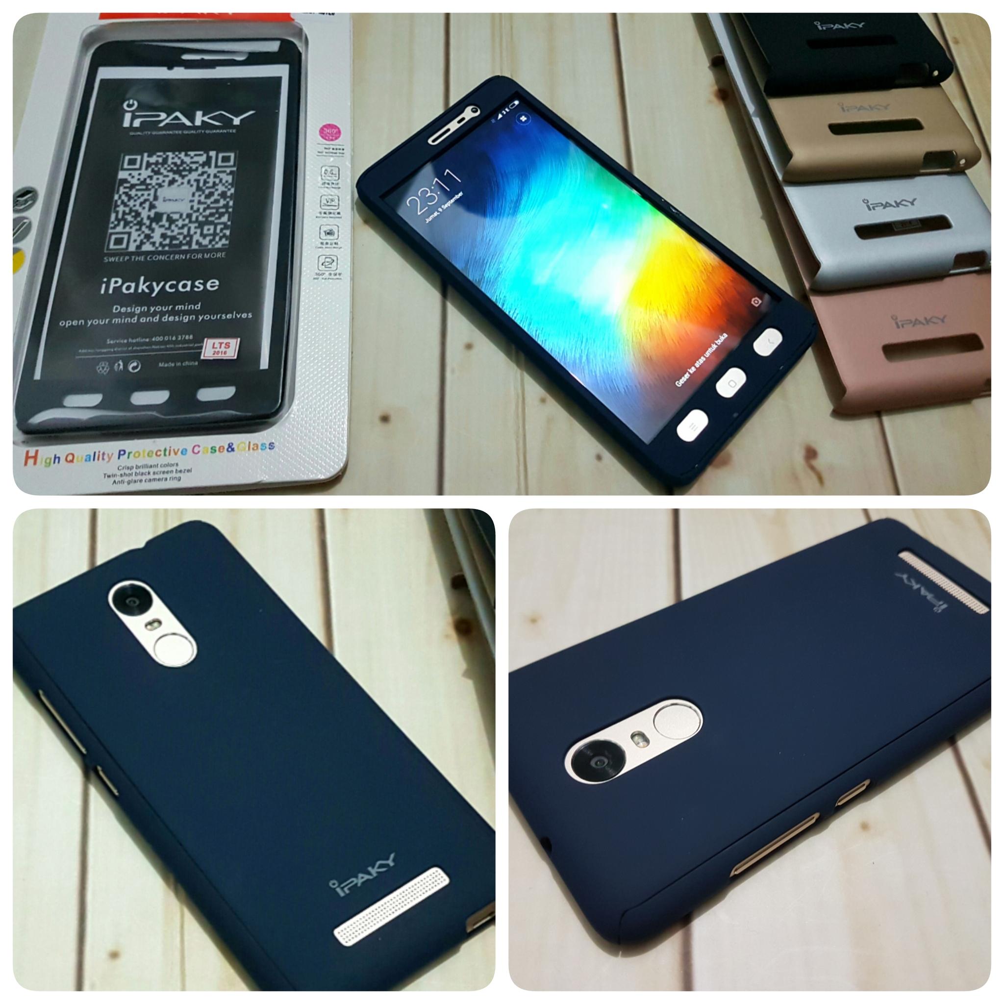 designer fashion 0d951 bfb7d Jual Case Ipaky Xiaomi Redmi Note 4 Full Body 360 Cover Hard ...
