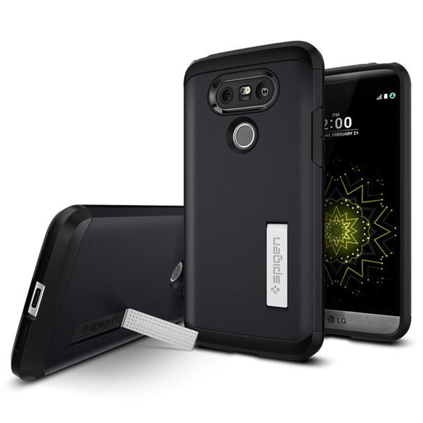 Spigen Tough Armor Case LG G5 - G5 SE - Metal Slate