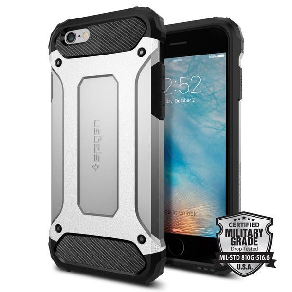 Spigen iPhone 6 - 6S Tough Armor Tech Case casing Cover - Silver Satin
