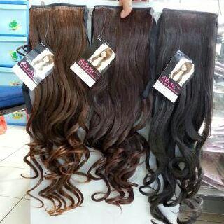 ponytail ikat curly ponitail curly ayumi thumbnail