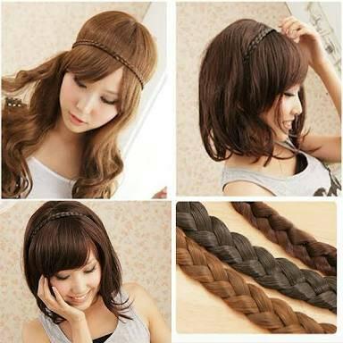 hairclip bandana kepang tanpa bando murah thumbnail