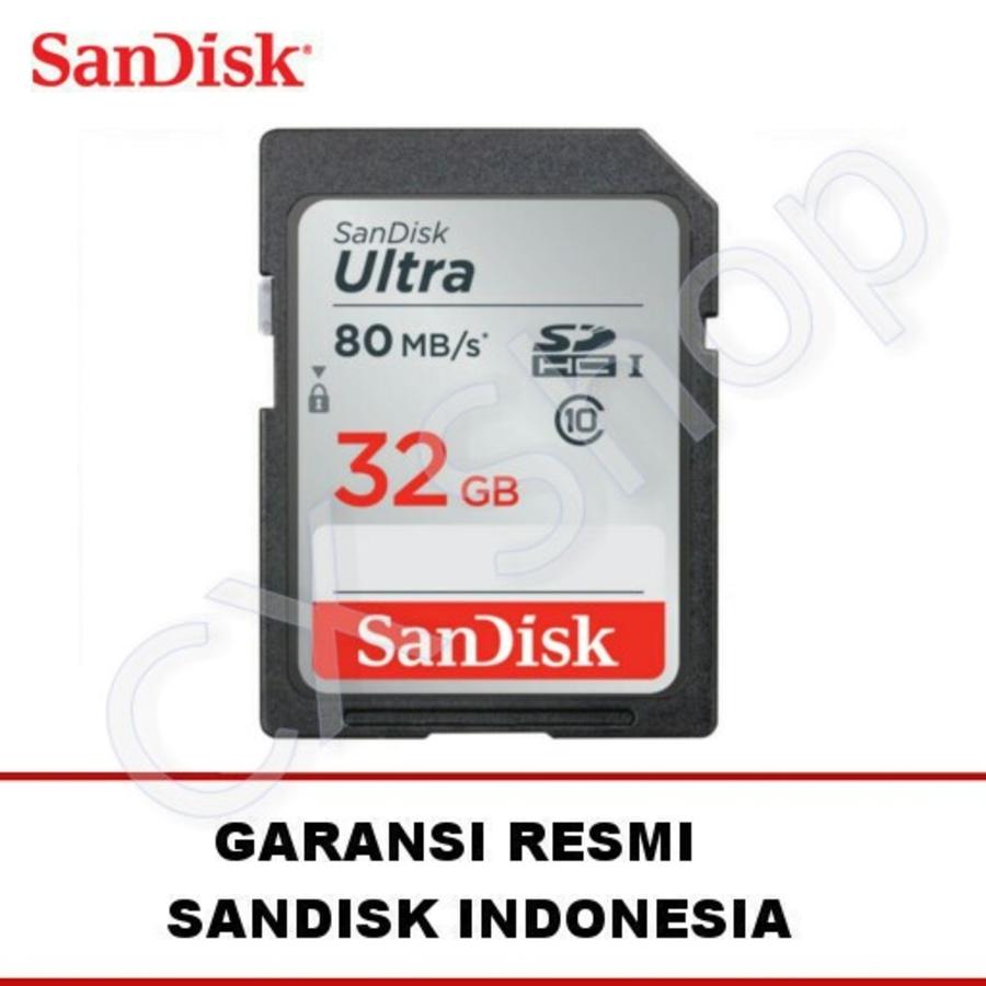 SanDisk Ultra SDHC Card 80MB / S Class 10 32GB - GARANSI RESMI
