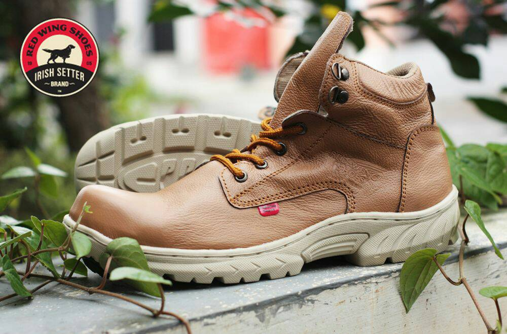 red wing safety tan kulit Murah