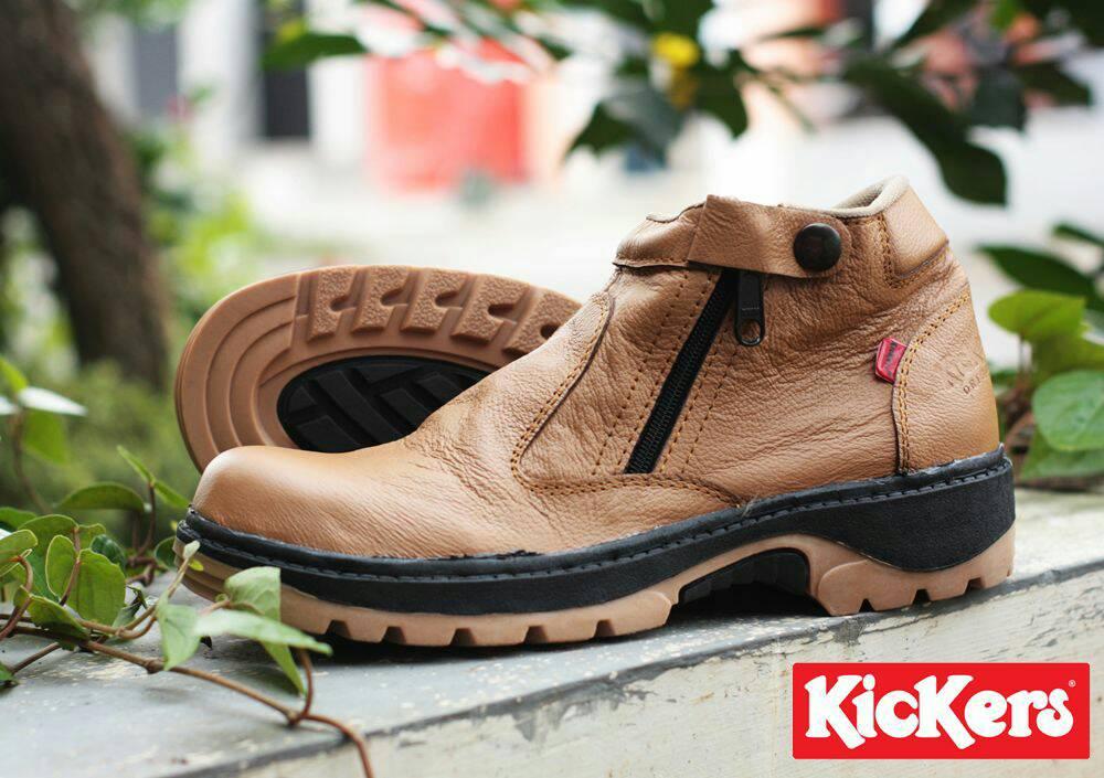 kickers byson safety tan kulit Murah
