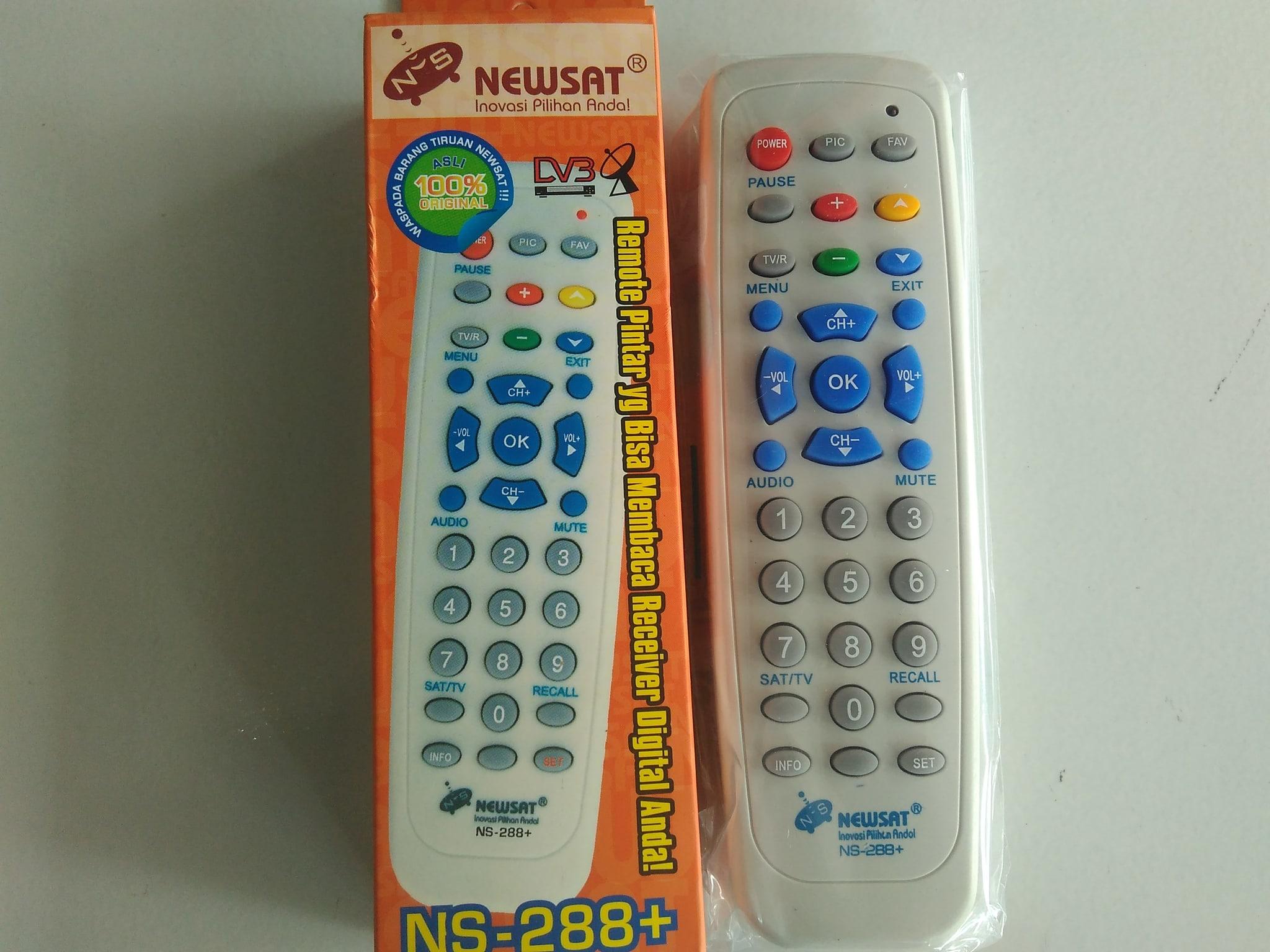 Jual Remot/remote receiver parabola mpeg2 newsat NS-288+