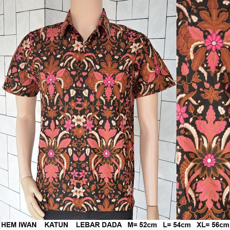 Jual Kemeja Batik Hem Pria Murah Tradisional Baju