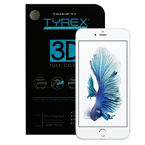 Tyrex iPhone 6- 6S 3D Full Coverage Tempered Glass - White