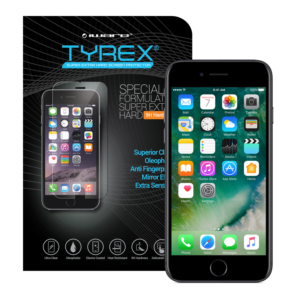 Aksesoris Apple Jual Gadget Android Hp Rearth Iphone 7 Plus Slim Gloss Black Tyrex Tempered Glass Screen Protector