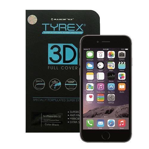 Tyrex iPhone 6 Plus - 6S Plus 3D Full Coverage Tempered Glass - Black