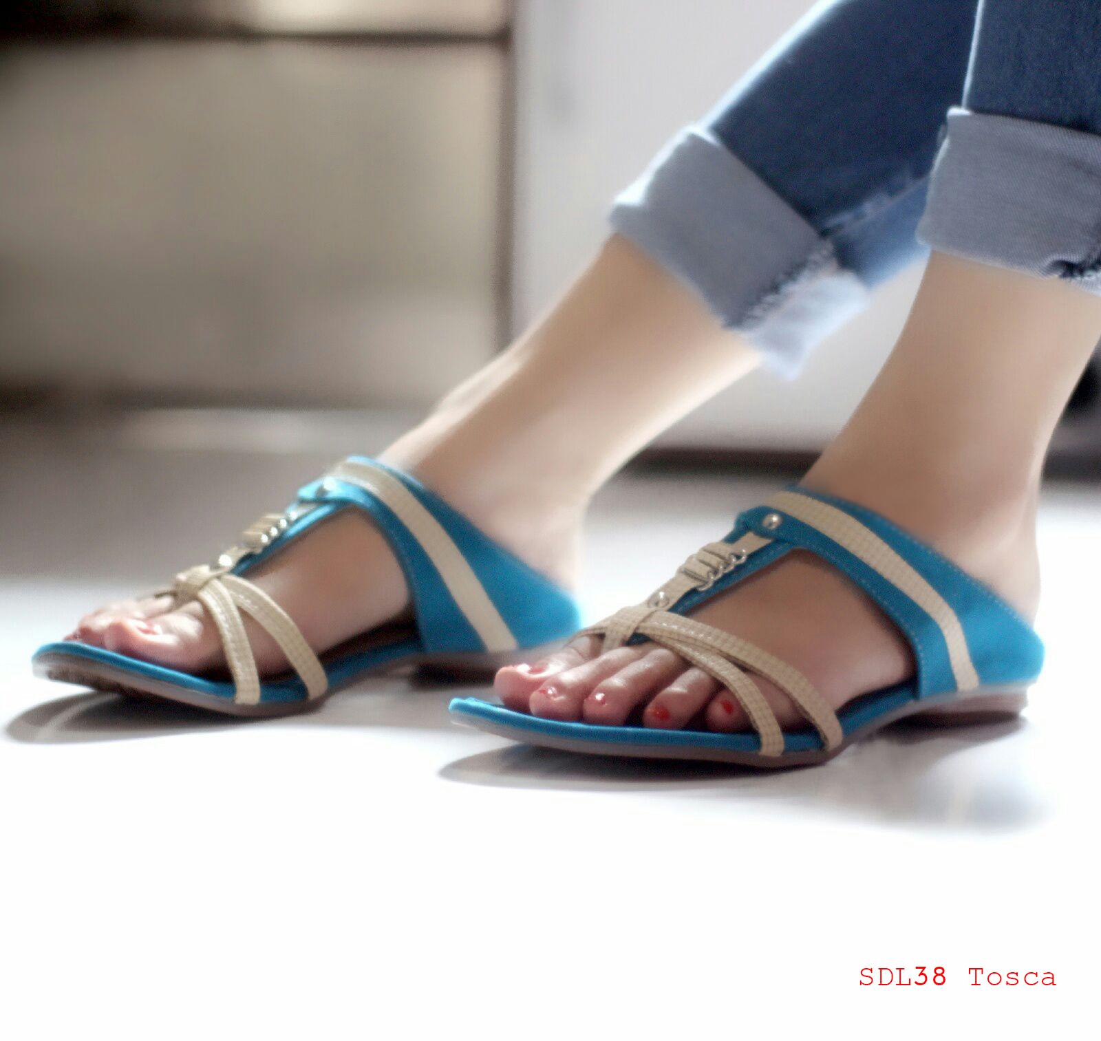 Jual Sandal Wanita Murah Sepatu Sendal Cewek SDL38 Tosca HAN