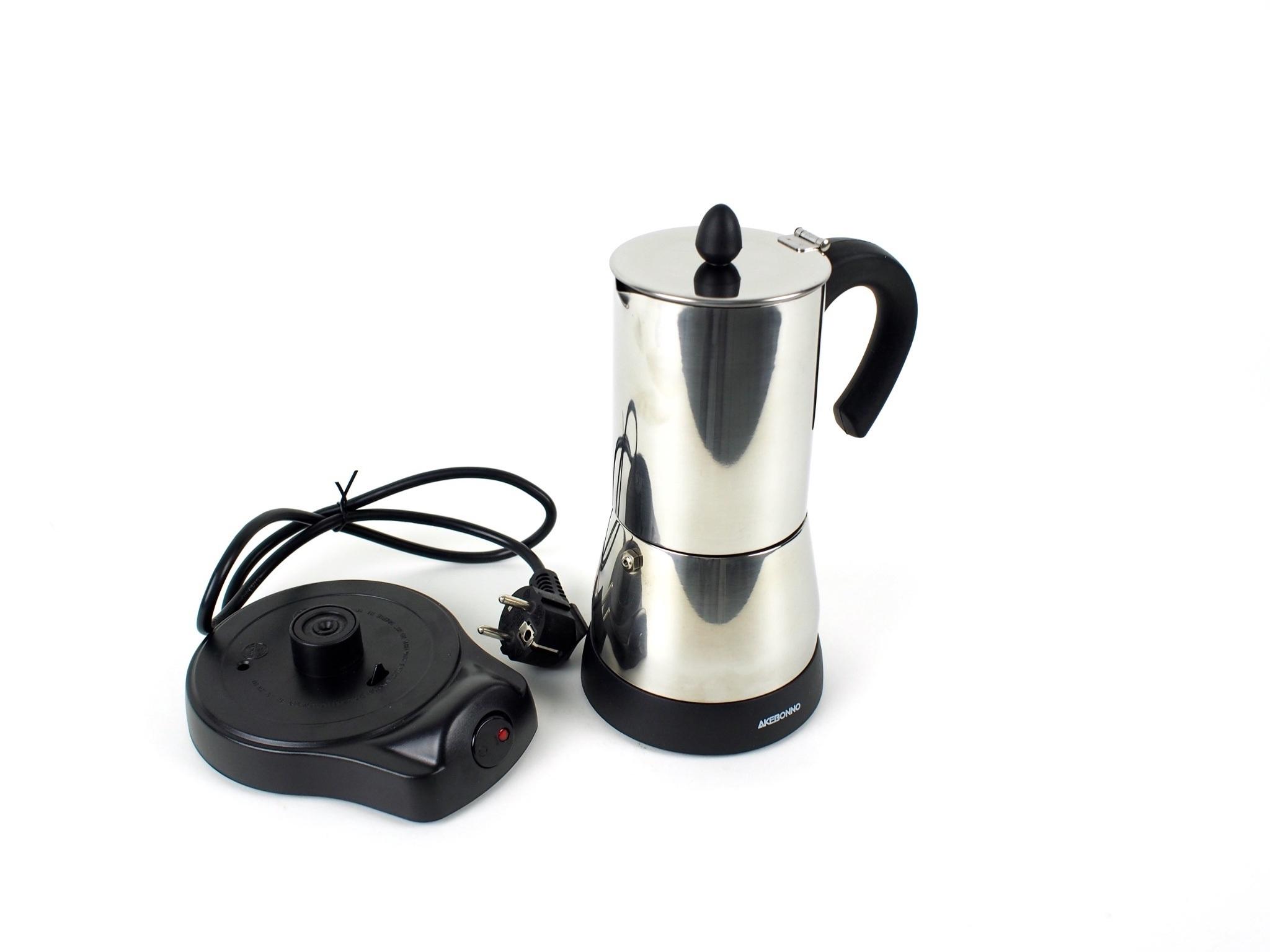 Jual Espresso Coffee Teko Kopi Akebonno Moka Pot Elektik Stainless 4 Maker Cup Tonchel Shop Tokopedia