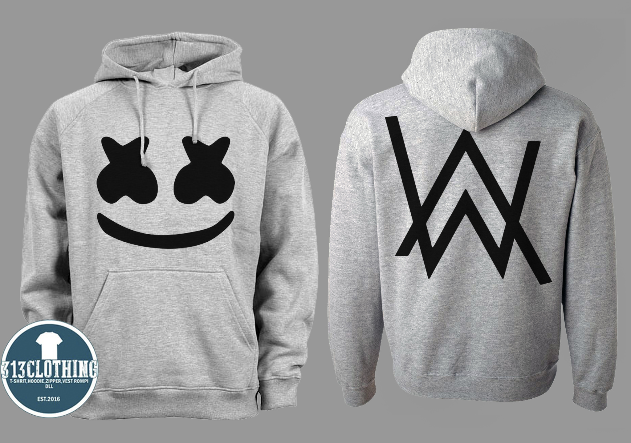 PENAWARAN Hoodie MarshMello Feat Alan Walker  3 - Misty - 313 Clothing e5dc2d1dcb