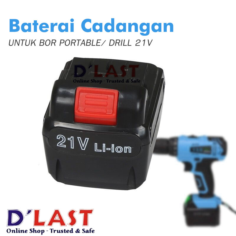 Replacement Battery Untuk Mesin Bor Portable 21 Volt, Super Murah