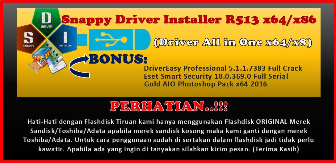 Snappy Driver Installer R513 x64/x86 + Flashdisk 16Gb (Original)