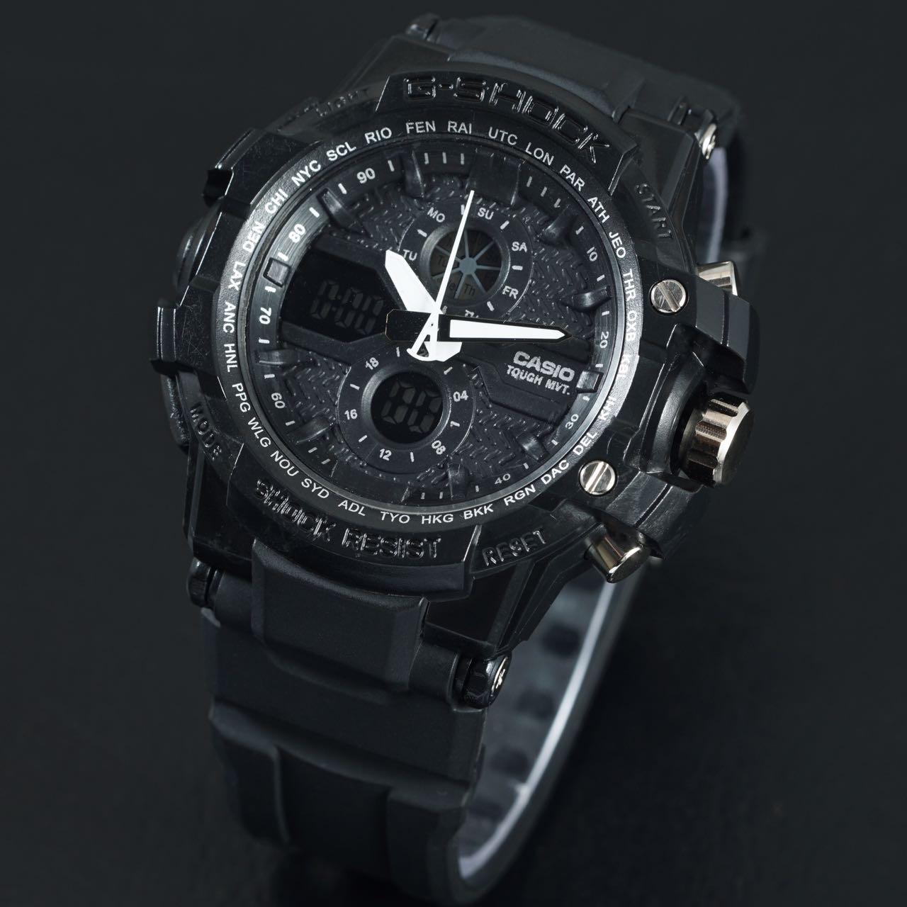 jam tangan gshock xfactor g shock x factor full black dualtime