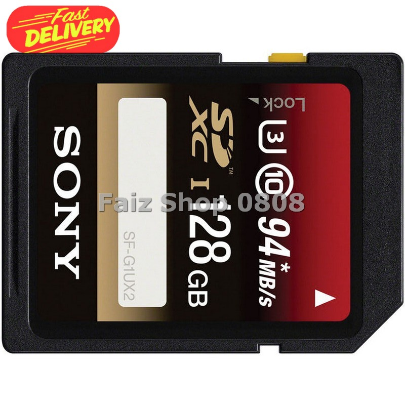 Sony SDXC UHS-I U3 Class 10 (94MB / S) 128GB - SF-GIUX2 SYMC0IXX
