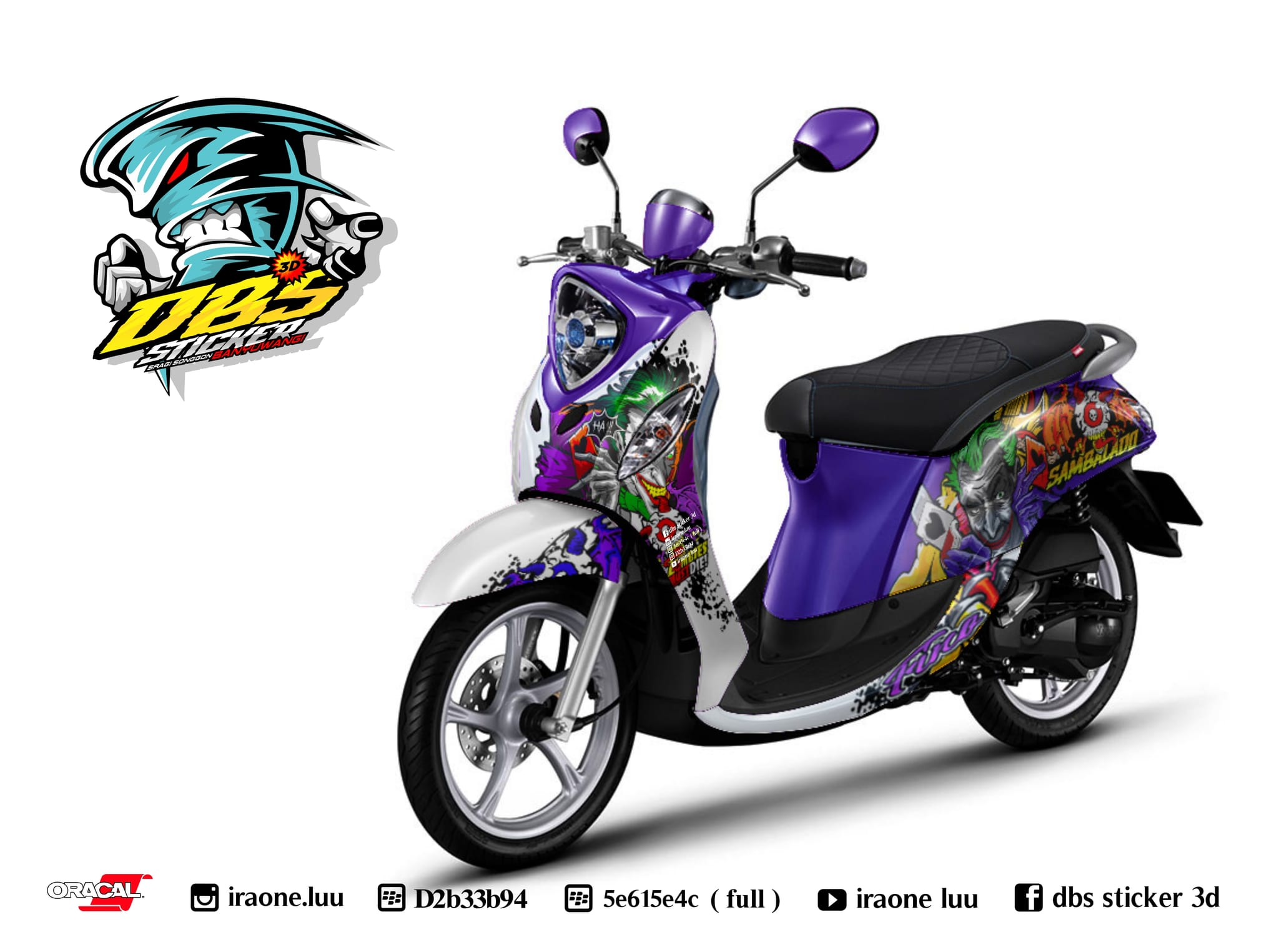 Cutting sticker motor fino terbaru