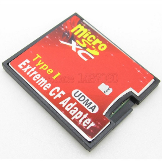 Extreme Micro SD Card To CF Adapter Converter Putih