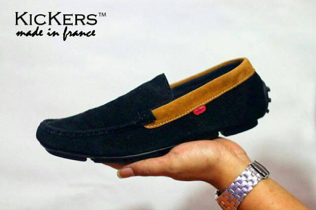 kickers estilo black suede