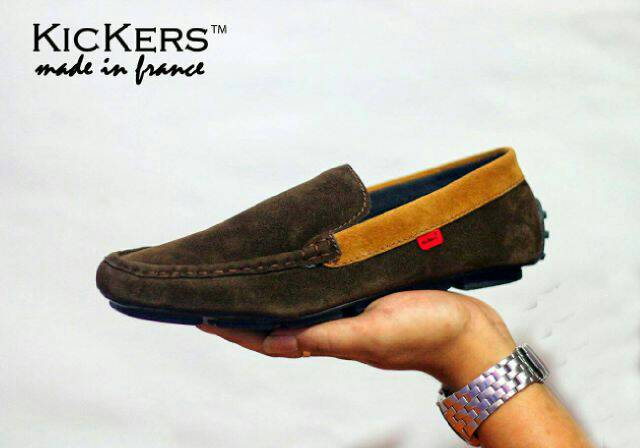 kickers estilo brown suede