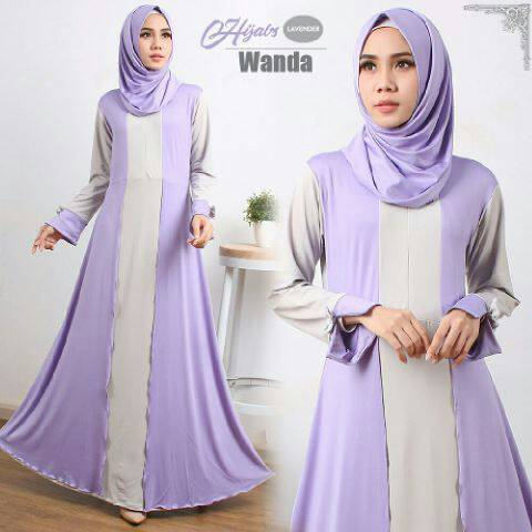 Gamis Syari Murah Wanda Lavender (Terbaru Modern Cantik Modis)