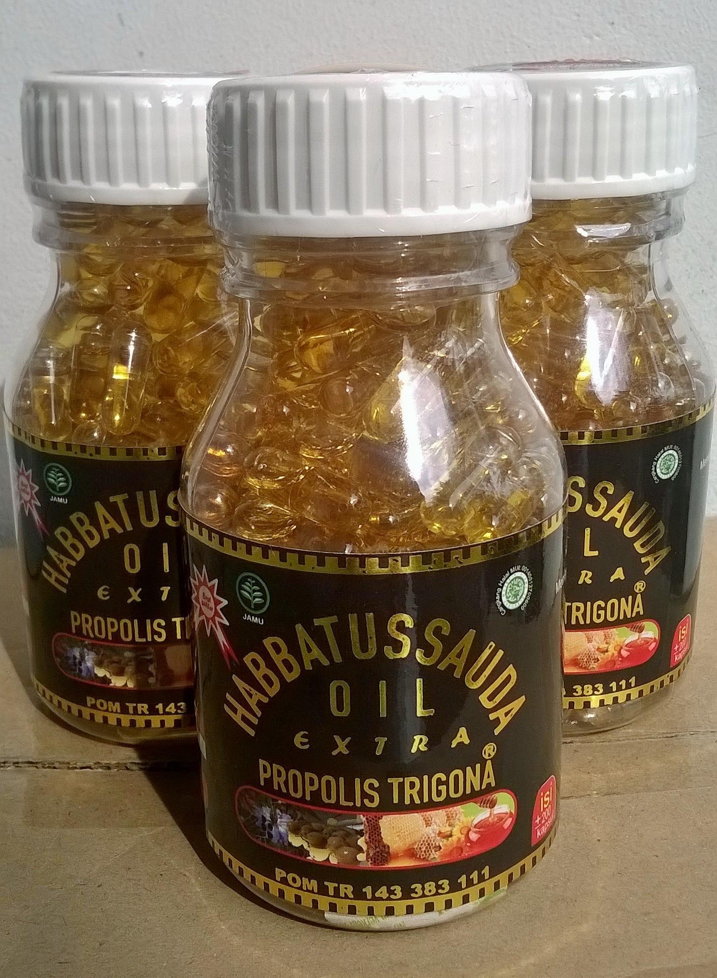 3 Botol Habbatussauda Oil Extra Propolis Trigona 1 Isi 200 Kamil In Kapsul Lazada Source