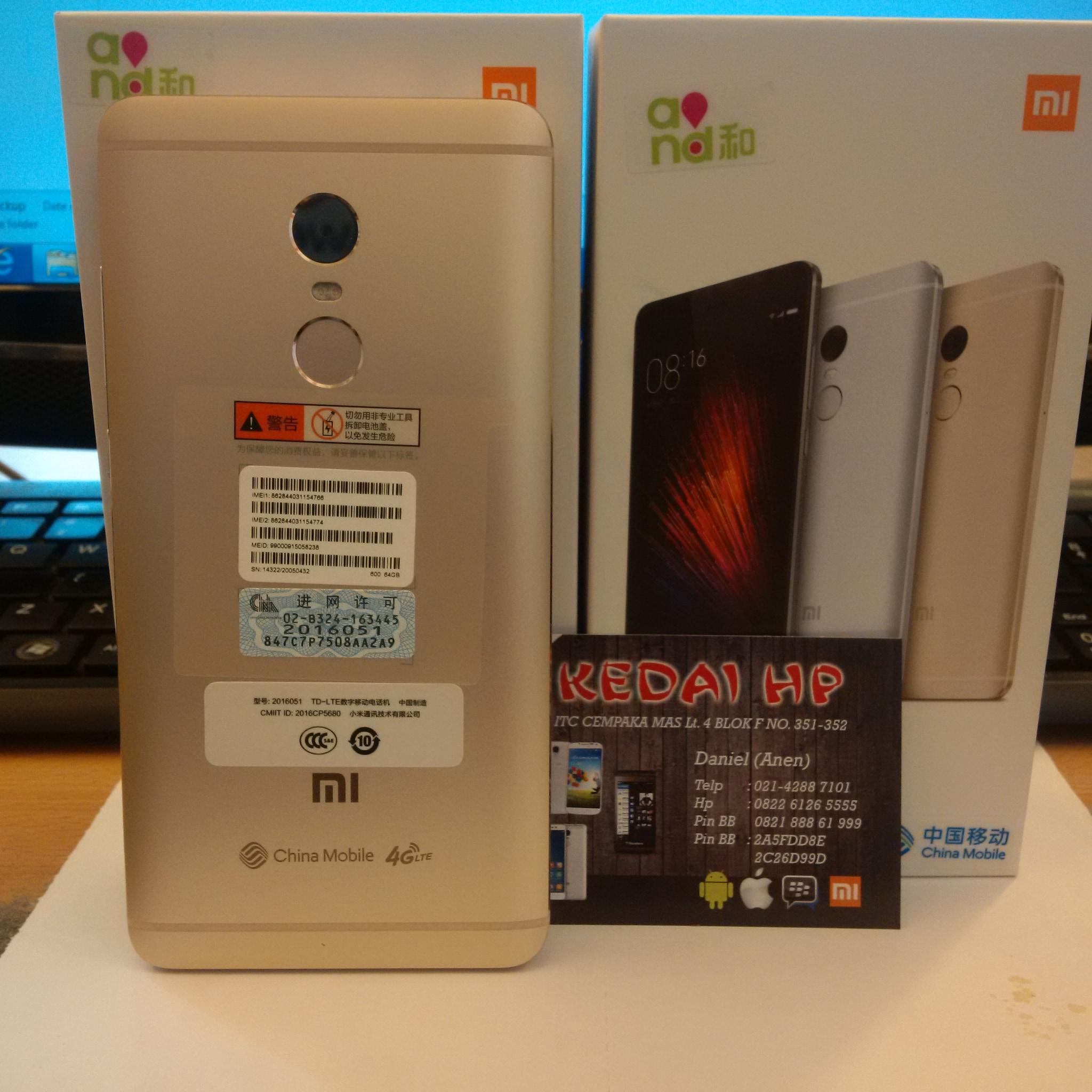 Jual Xiaomi Redmi Note 4 364 Garansi Distributor 1 Tahun 2 16gb 4g Lte
