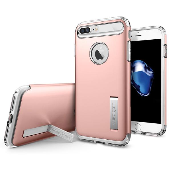 Spigen iPhone 7 Plus Slim Armor Soft Hard Case Casing - Rose Gold