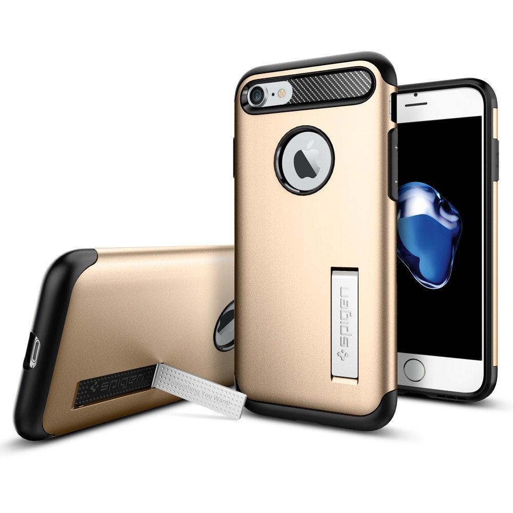Spigen Slim Armor Casing for iPhone 7 Plus - Champagne Gold
