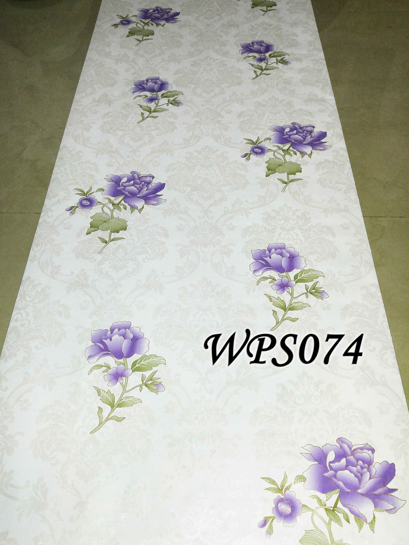 Jual wallpaper sticker 45cmx5m wps074 white classic n purple flower methwallsticker tokopedia