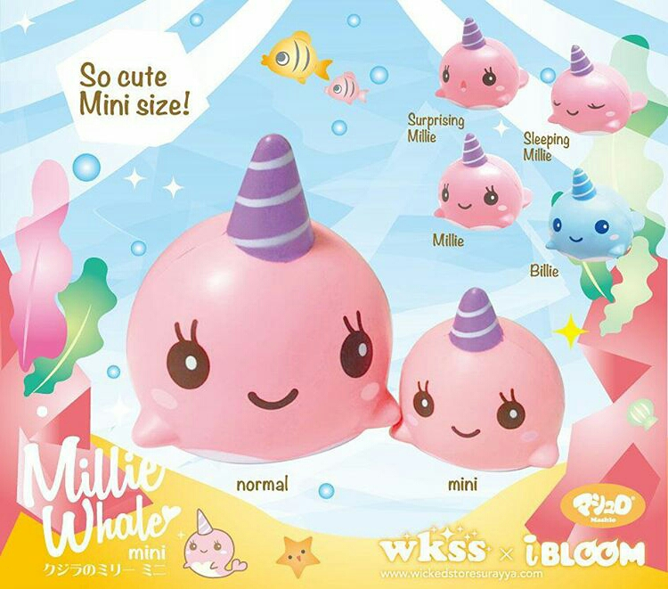 Jual squishy ibloom millie the whale mini