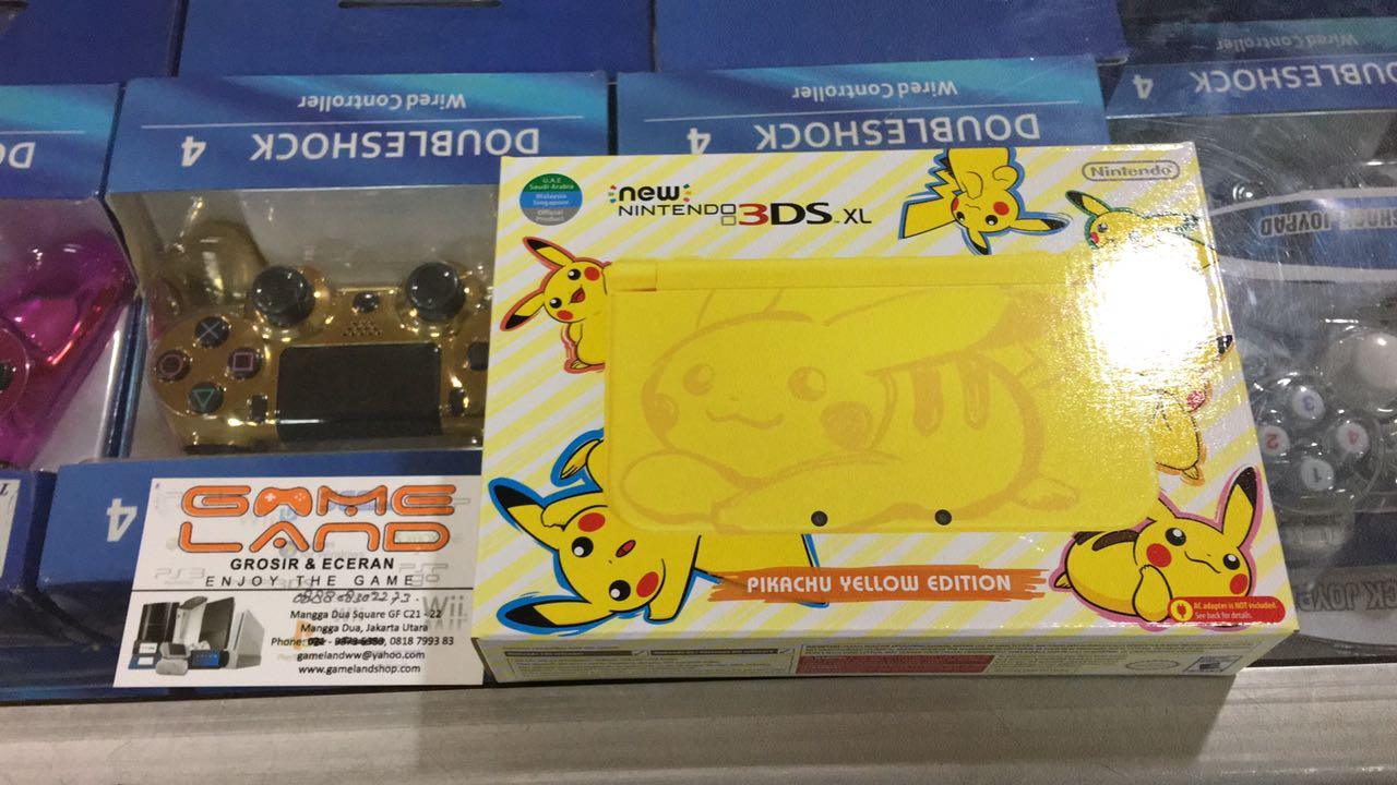 Jual New 3ds Xl Pikachu Yellow Edition Gameland Tokopedia Nintendo