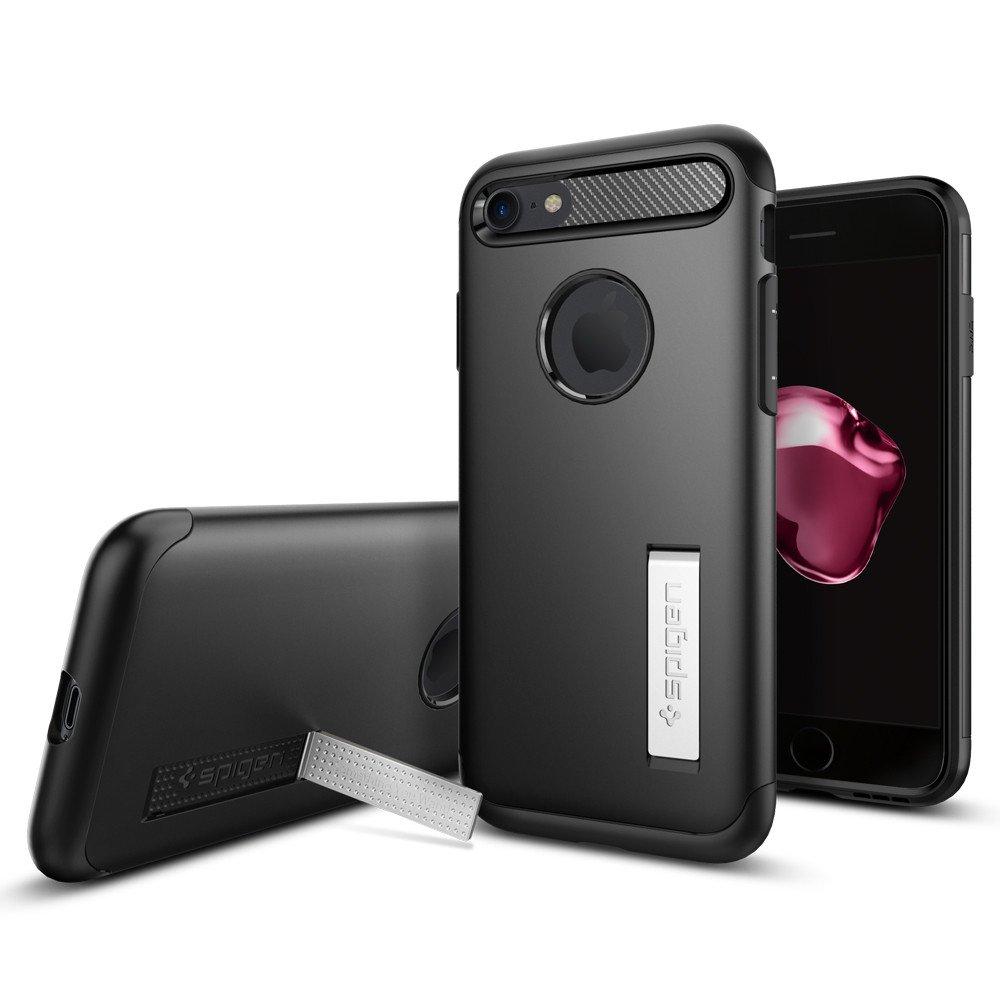 Spigen iPhone 7 Slim Armor Soft Hard Case Casing - Black