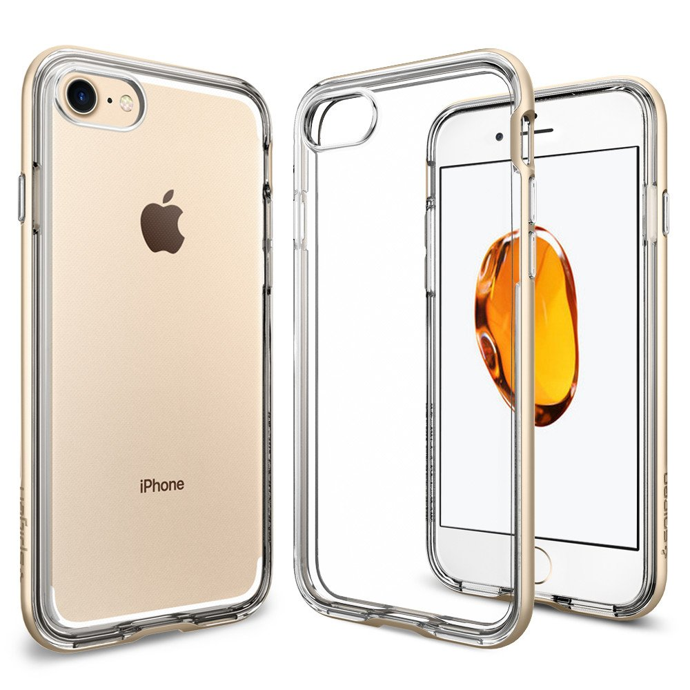 Spigen iPhone 7 Case Neo Hybrid Crystal Clear - Champagne Gold