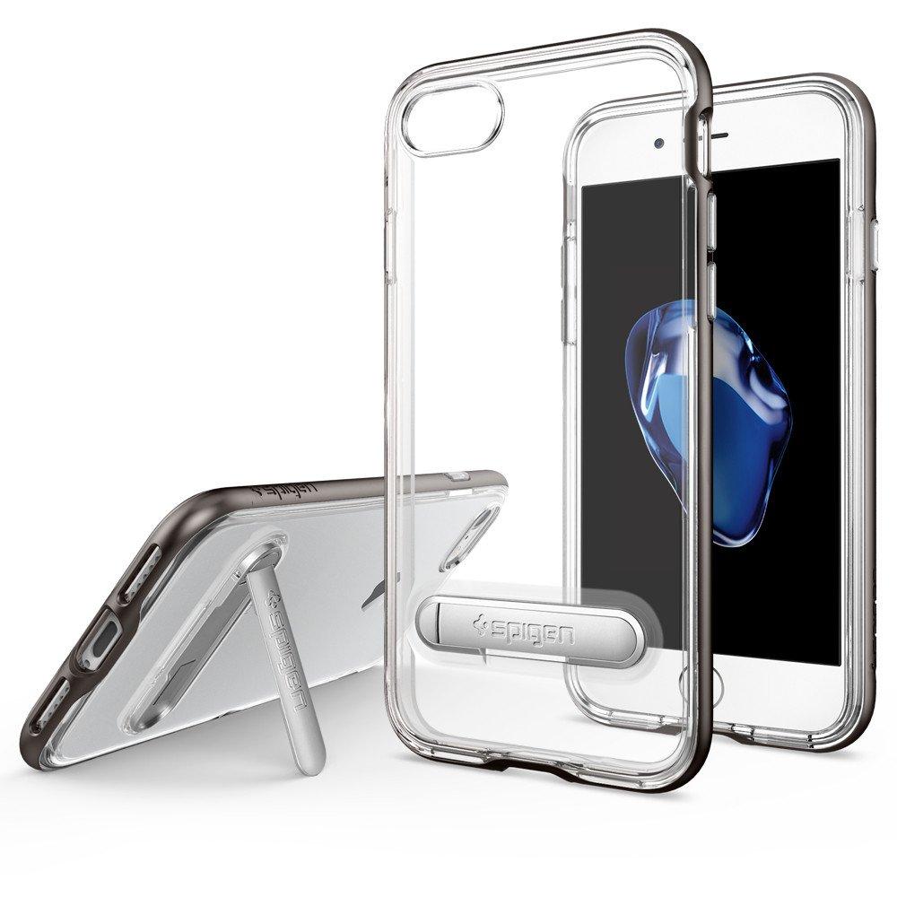 Spigen iPhone 7 Case Crystal Hybrid Cover Casing Original - Gunmetal
