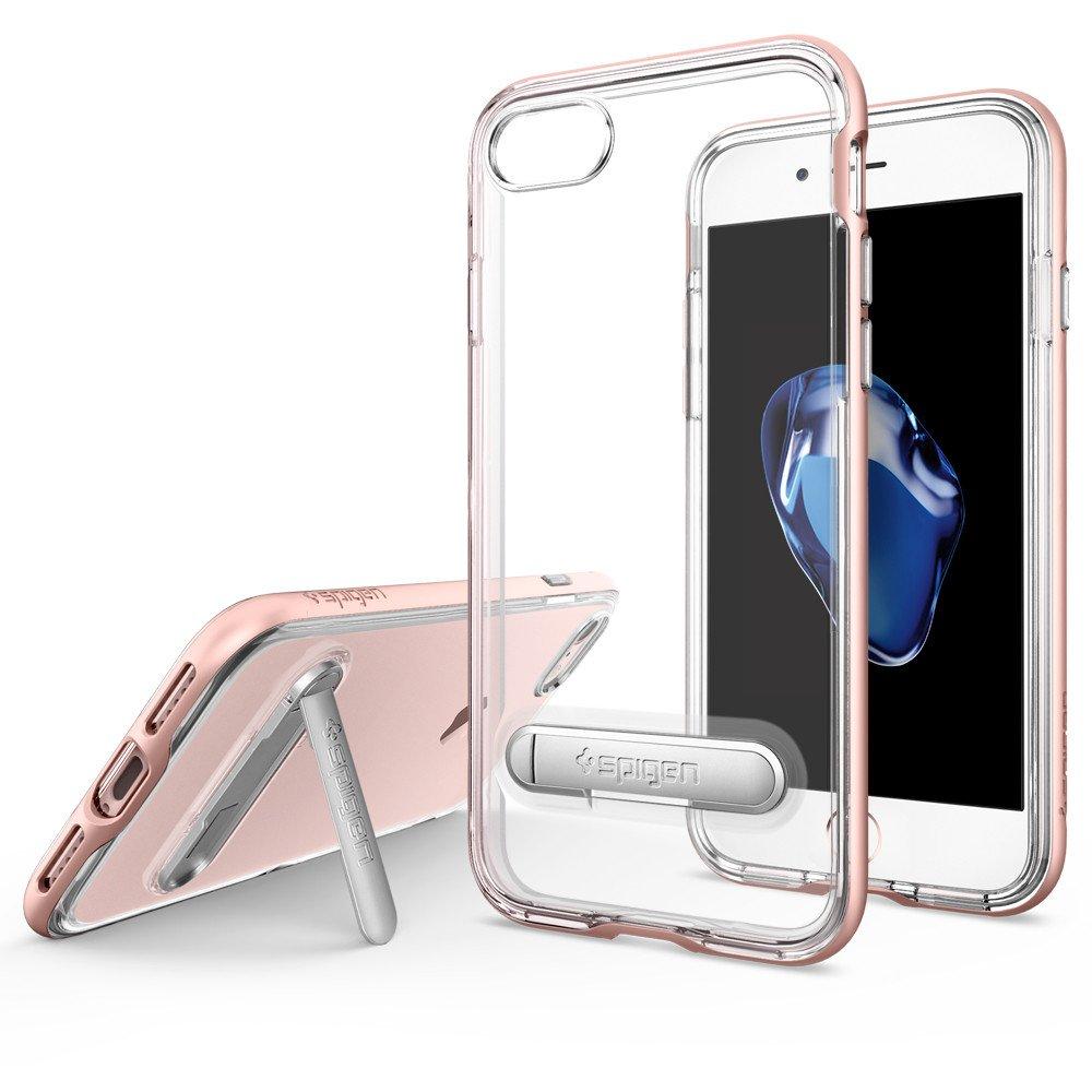 Spigen iPhone 7 Case Crystal Hybrid Casing Cover Original - Rose Gold