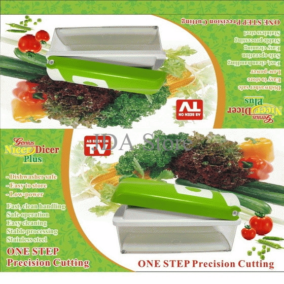 Genius Nicer Dicer Plus / Pemotong Serbaguna (As Seen On Tv)