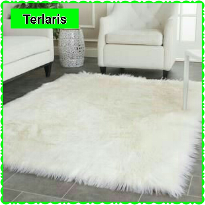 Jual karpet bulu putih alas foto bulu putih background
