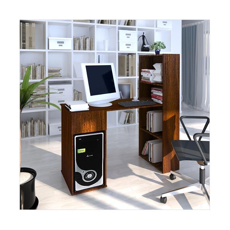 Meja Komputer Dengan Rak Buku Italiano / Meja Kerja / Meja Kantor